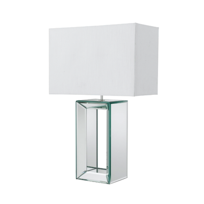 Mirrored Block Cube Table Lamp