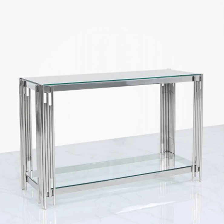 Metal Bar Console Table