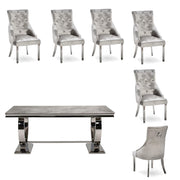 Arianna Dining Table & 6 x Silver Belvedere Dining Chairs