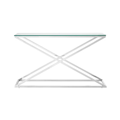 X Stainless Steel Console Table