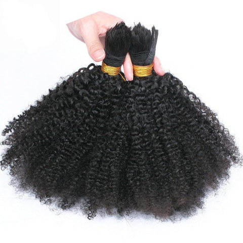 Bulk Human Braiding Hair 3Pcs/Lot 4a/4b curl