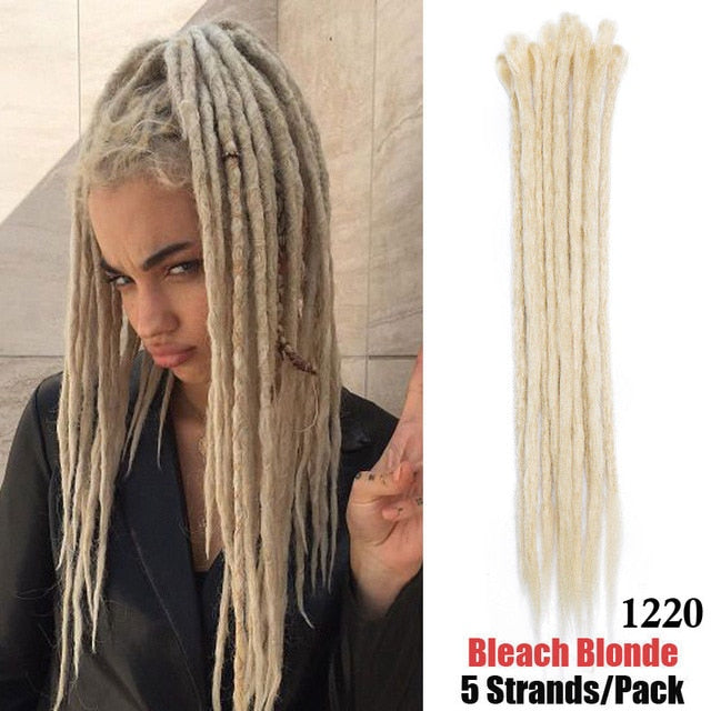 20 inch Handmade Dreadlocks Hair Extensions Synthetic