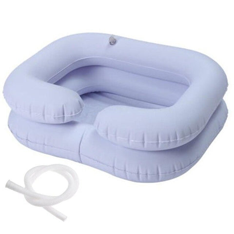 Inflatable Portable Hair Washing Basin with Drain Tube