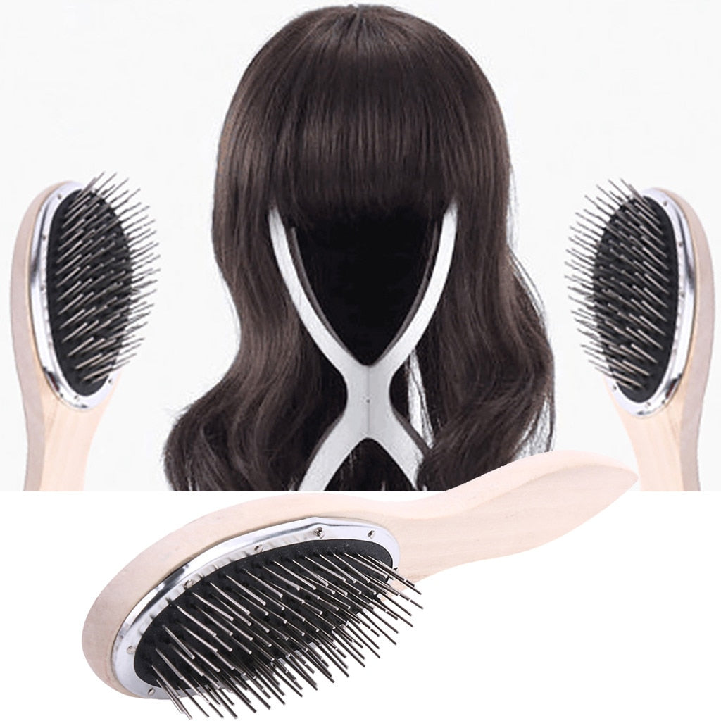 Large Wide Tooth Comb metal Hair Brush