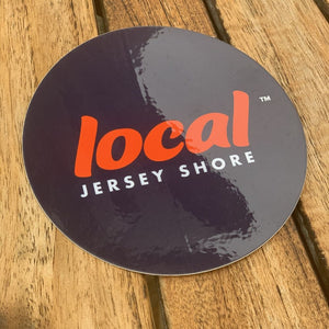 Jersey Shore Local™ 4in. Diameter Circle Decal (Navy Blue)