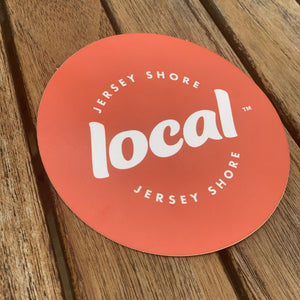Jersey Shore Local™ 4in. Circle Decal (Orange)