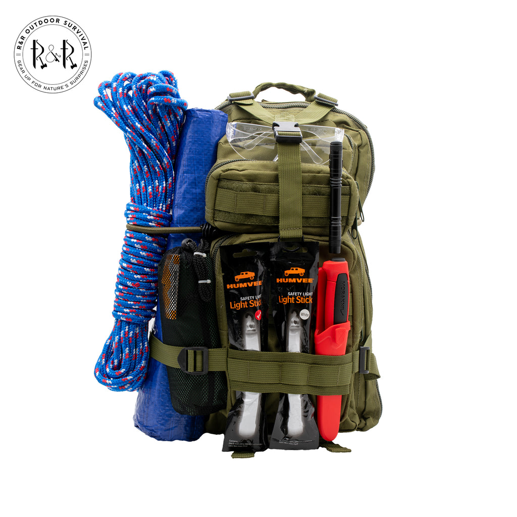 Natural Disaster Emergency Kit 1 Person | R & R Outdoor Survival - R & R Outdoor Survival