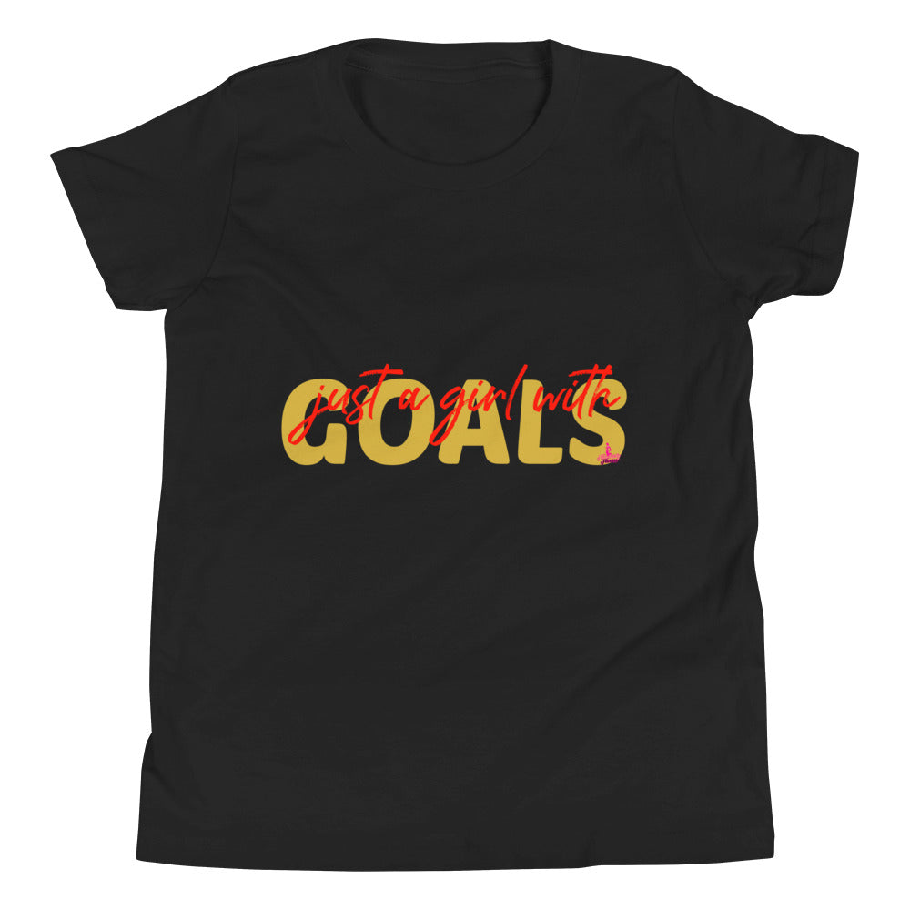 Just A Girl w Goals Youth Tee