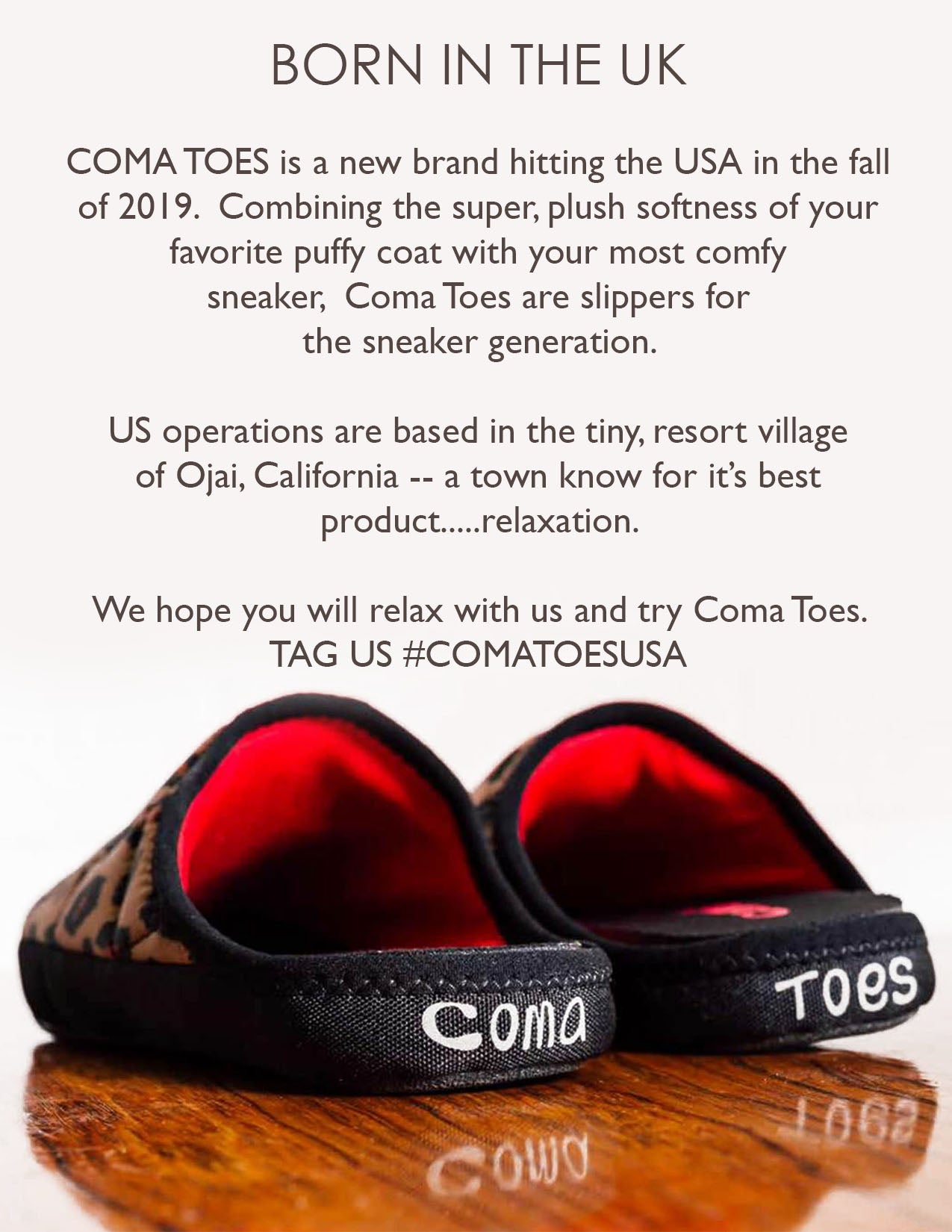 Coma Toes slippers for the sneaker generation about us