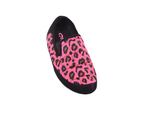 MALMOES WOMENS FLURO PINK LEOPARD
