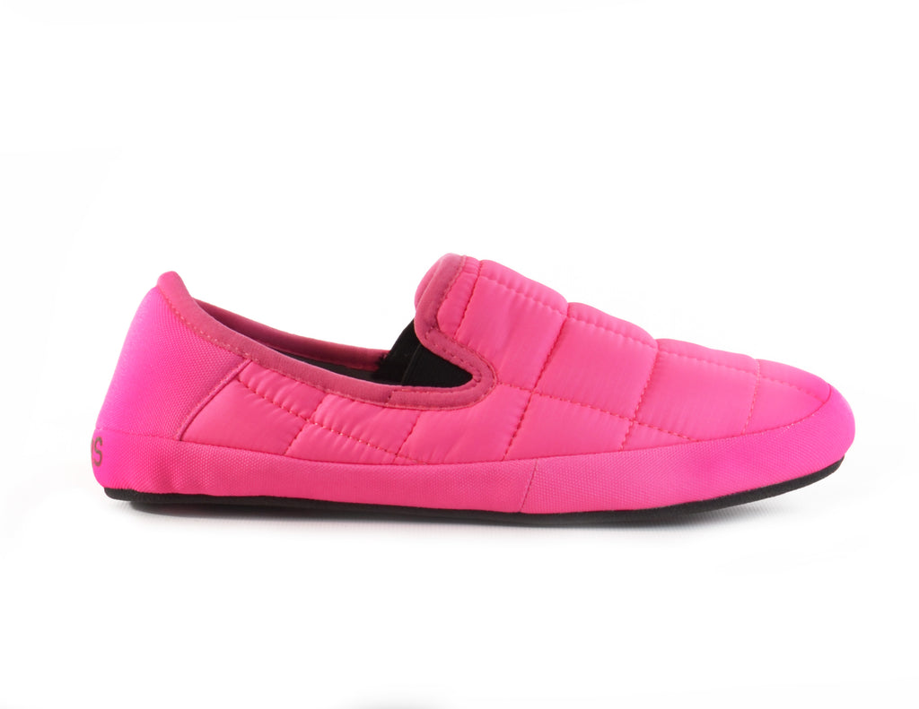 neon pink nylon slippers