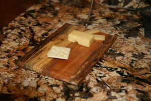 Multi-wood Cheese Board with Slicer