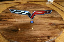Load image into Gallery viewer, Lazy Susan- Corvette Emblem Inlay