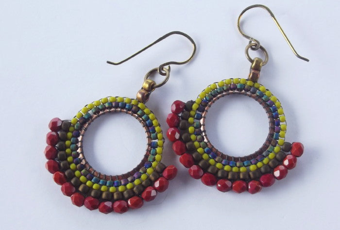 Boho Earrings in Terracotta