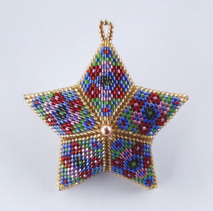 Beaded Star Blue