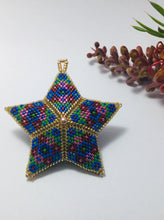 Load image into Gallery viewer, Beaded Star Blue