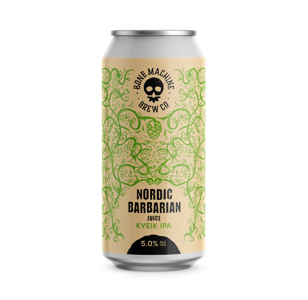 BONE MACHINE Nordic Barbarian Juice Kveik IPA 5.0% 12x440ml