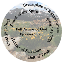 Load image into Gallery viewer, All-Over Print Bean Bag Chair w/ filling, Whole Armor of God, Ephesians 6:10-18