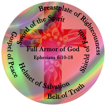 Load image into Gallery viewer, Whole Armor of God, Ephesians 6:10-18, Cross, Flowers, Bible Verse Shirt