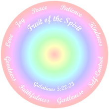 Load image into Gallery viewer, Fruit of the Spirit Pastel Shirt. Bible Verse Galatians 5:22-23, T-Shirt