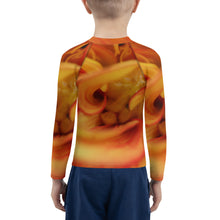 Load image into Gallery viewer, Kids Rash Guard.  Ecclesiastes 3:11 bible verse scripture and flower on Kids Rash Guard.