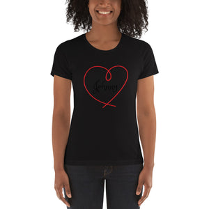 Love Collection.  Women's t-shirt.  Customizable Text.