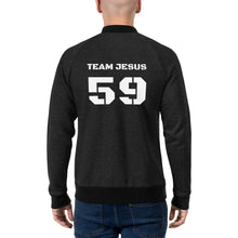 Load image into Gallery viewer, Team Jesus Sports Number Bomber Jacket  Classic  Vintage/Faded Text