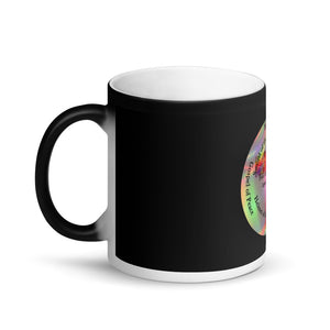 Matte Black Magic Mug, The Full Armor of God, Bible Verse Ephesians 6:11, Beautiful Bible Verse and Cross Coffee Cup