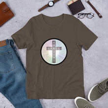 Load image into Gallery viewer, Cross with Amazing Grace Shirt, Colorful Short-Sleeve Unisex T-Shirt