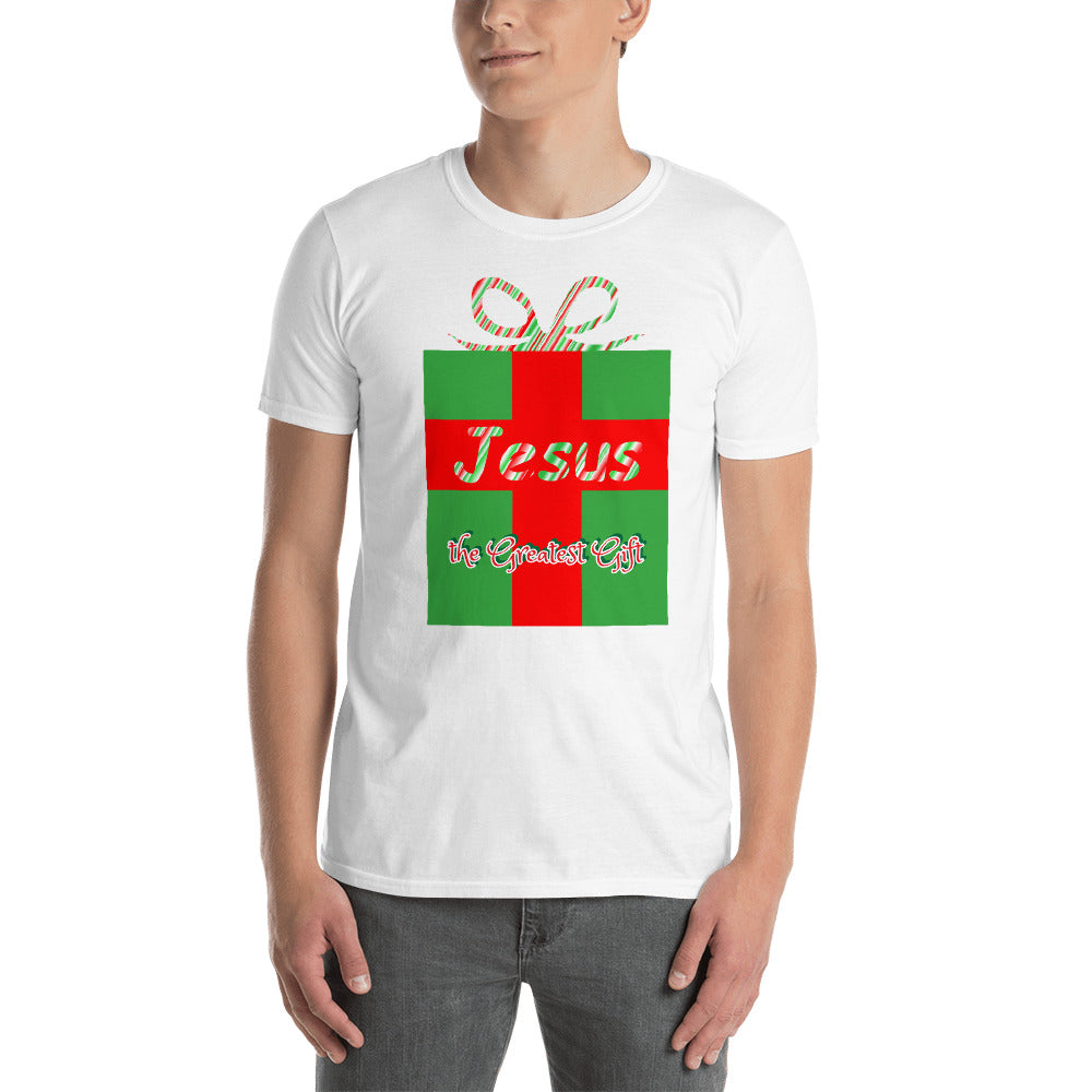 Jesus the Greatest Gift Christmas Shirt. Short-Sleeve Unisex T-Shirt