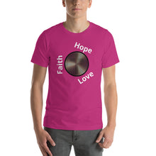 Load image into Gallery viewer, FHL Faith Hope Live Cross Shirt. Short-Sleeve Unisex T-Shirt