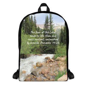 Scenic Mountain and Scripture Backpack
