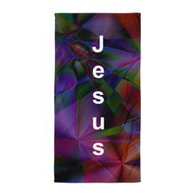 Load image into Gallery viewer, Stained Glass Beach Towel with Jesus' Name