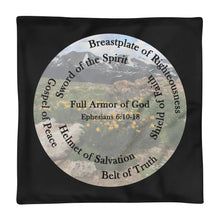 Load image into Gallery viewer, Pillow Case, The Full Armor of God, Bible Verse Ephesians 6:11, Beautiful Bible Verse and Flowers Pillow Case