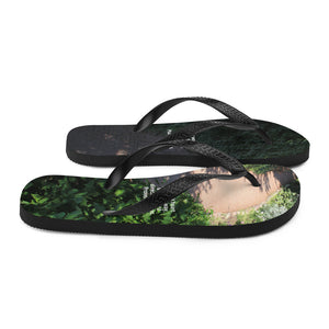 Flip-Flops, Bible Verse Scripture on path, Christian Faith, Jesus - Flipflops.