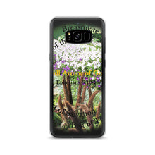 Load image into Gallery viewer, Samsung Case, Whole Armor of God, Ephesians 6:10-18, Beautiful Bible Verse and Flowers Phone Case