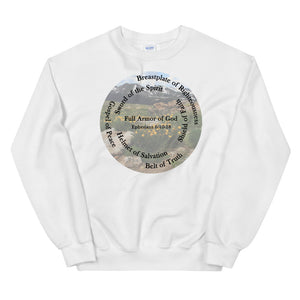Sweatshirt, The Full Armor of God, Bible Verse Ephesians 6:11, Beautiful Bible Verse and Flowers Sweatshirt
