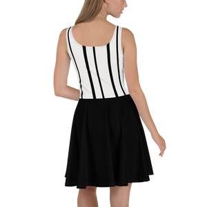 Skater Dress, Black and White Dress