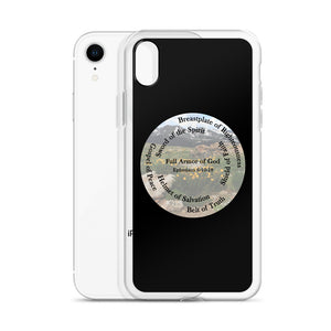 iPhone Case, Whole Armor of God, Bible Verse Ephesians 6:10-18, Beautiful Bible Verse and Flowers iPhone Case