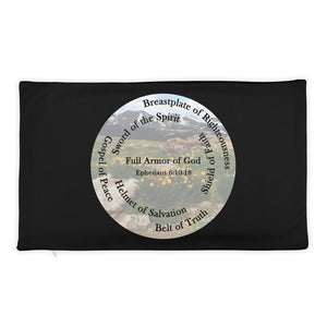 Pillow Case, The Full Armor of God, Bible Verse Ephesians 6:11, Beautiful Bible Verse and Flowers Pillow Case