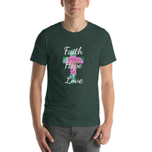 Load image into Gallery viewer, Shirt - Cross with Faith Hope Love and Flower, Short-Sleeve Unisex T-Shirt