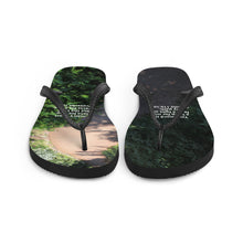 Load image into Gallery viewer, Flip-Flops, Bible Verse Scripture on path, Christian Faith, Jesus - Flipflops.