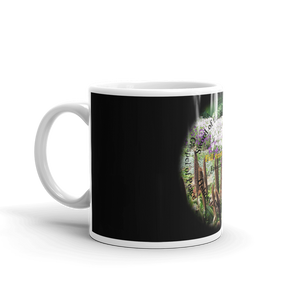 Mug, Whole Armor of God, Bible Verse Ephesians 6:10-18, Beautiful Bible Verse and Flowers Coffee Cup