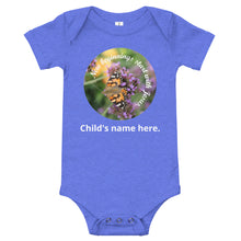 Load image into Gallery viewer, T-Shirt, New beginnings start with Jesus. Customize your child's name - Bodysuit.