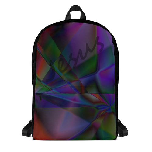Stained Glass Backpack with Jesus
