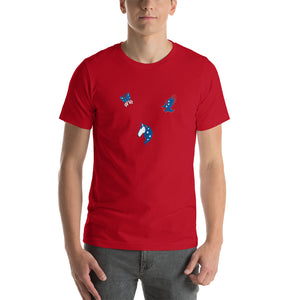 Short-Sleeve Unisex T-Shirt, Animals Red White Blue American T Shirt