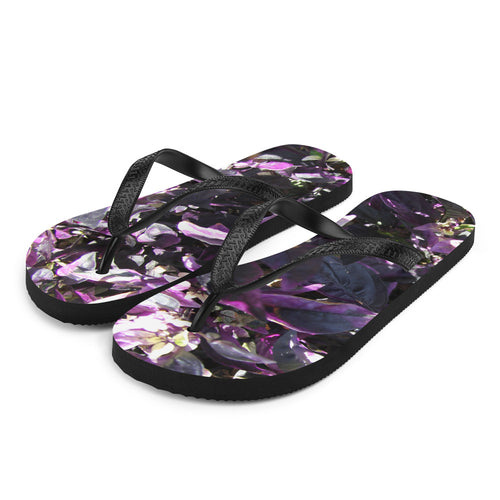 Purple Flower of the Garden Flip-Flops