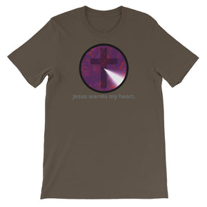 Jesus warms my heart shirt. Short-Sleeve Unisex T-Shirt
