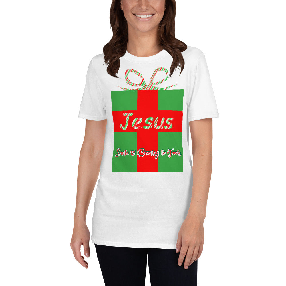 Jesus, Santa is Coming to Town, Shirt.