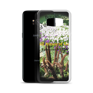 Samsung Case, Whole Armor of God, Ephesians 6:10-18, Beautiful Bible Verse and Flowers Phone Case